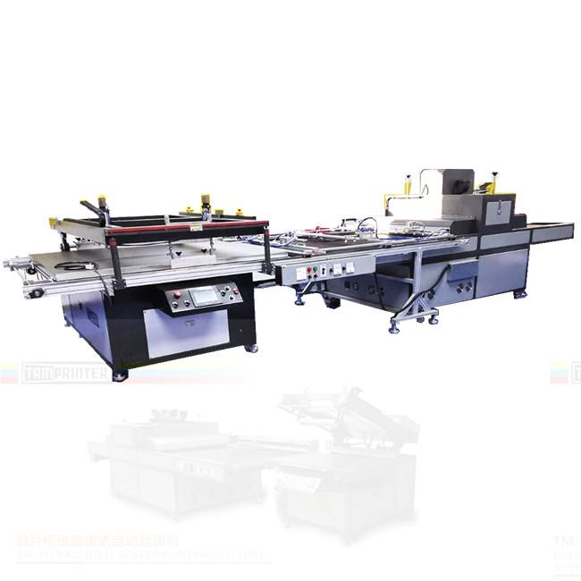 big size Automatic screen printing machine for sheet with automatic blanking 1