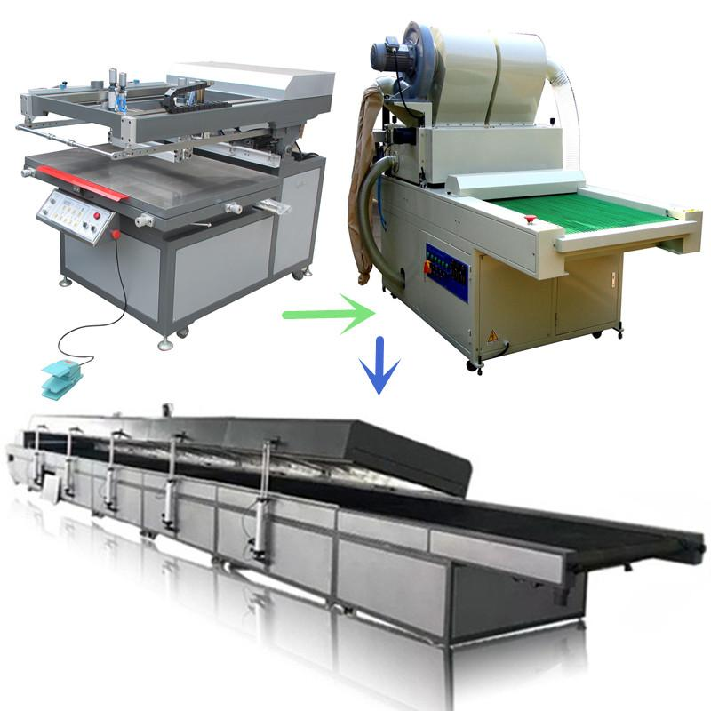 Offset printing heat press paper automatic screen printing production line 1
