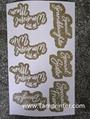 Gold glitter powder greeting card auto screen printing machines 5