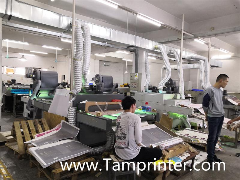 Gold glitter powder greeting card auto screen printing machines 6