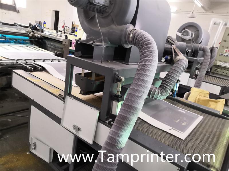 Gold glitter powder greeting card auto screen printing machines 8