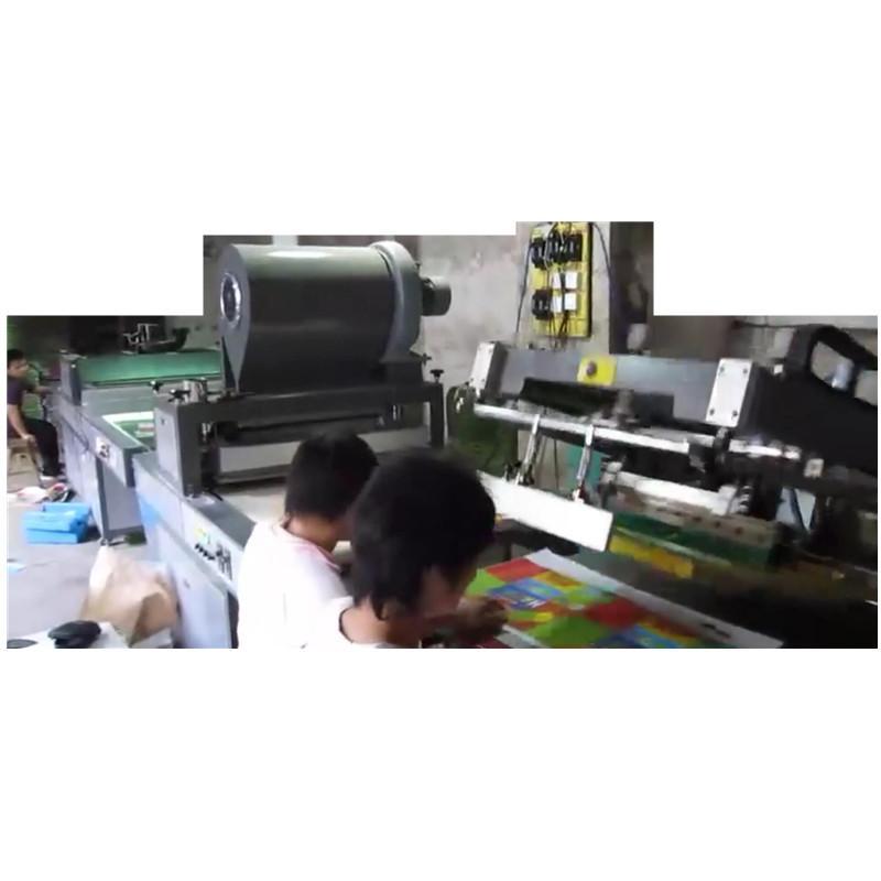Gold glitter powder greeting card auto screen printing machines 2