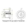 aluminum Ink Cup for tampoprint Pad Printer 5
