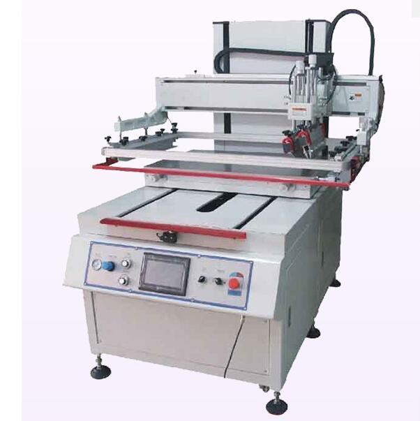 T-slot & vacuum sliding table vertical precision screen printing machines