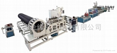 上海金緯機械塑鋼纏繞管設備生產線