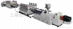上海金緯PVC木塑建築模板生產線