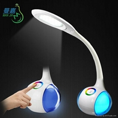 Mordern Touch Control Dimmable LED Table Lamp Night Light 2 in 1