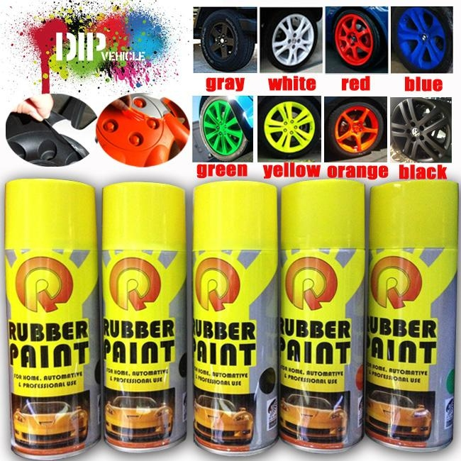 colorful car rubber paint spray film peelable instantly spray paint. Black Bedroom Furniture Sets. Home Design Ideas