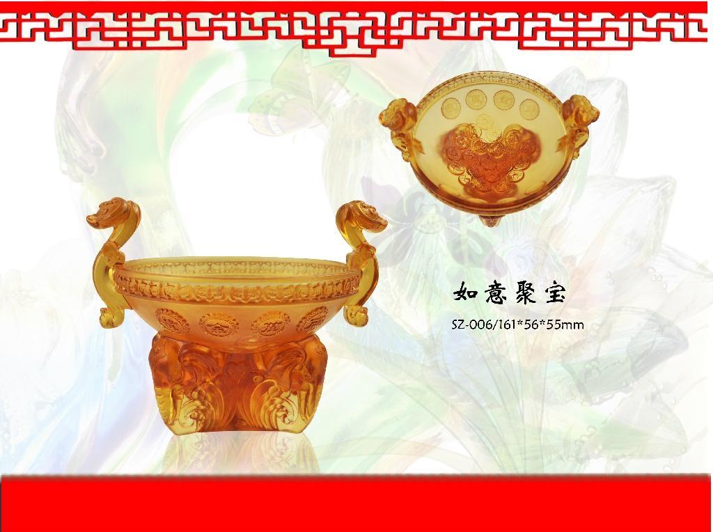 Factory direct sale coloured glaze, feng shui series 1