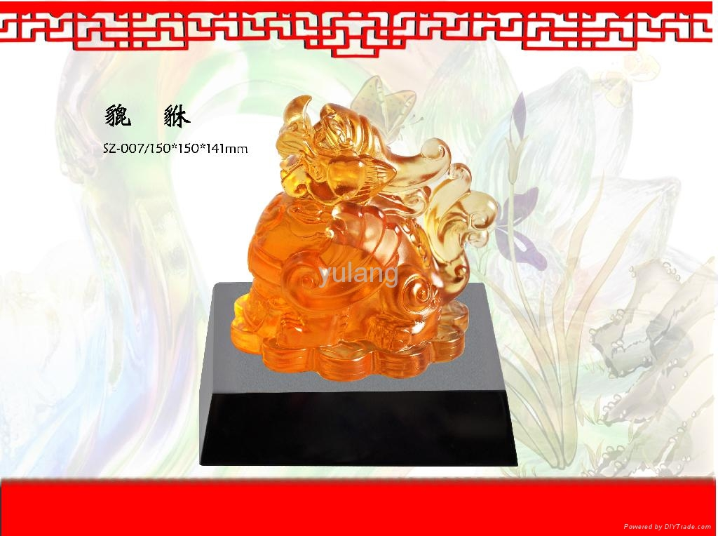 Factory direct sale coloured glaze, feng shui series 3