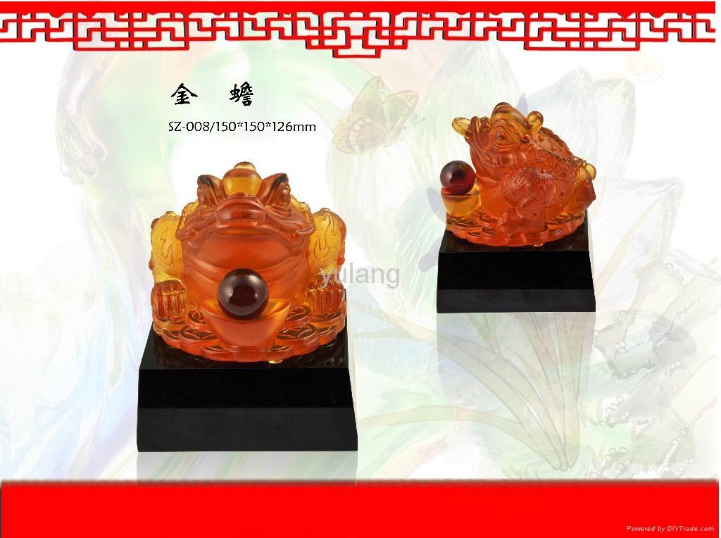 Factory direct sale coloured glaze, feng shui series 4