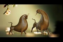 Copper art animal series