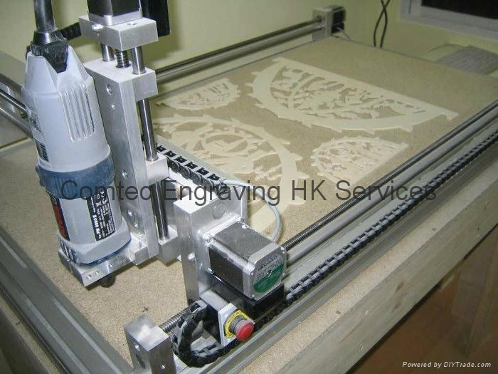 plywood pattern engraving--'made in Hong Kong'