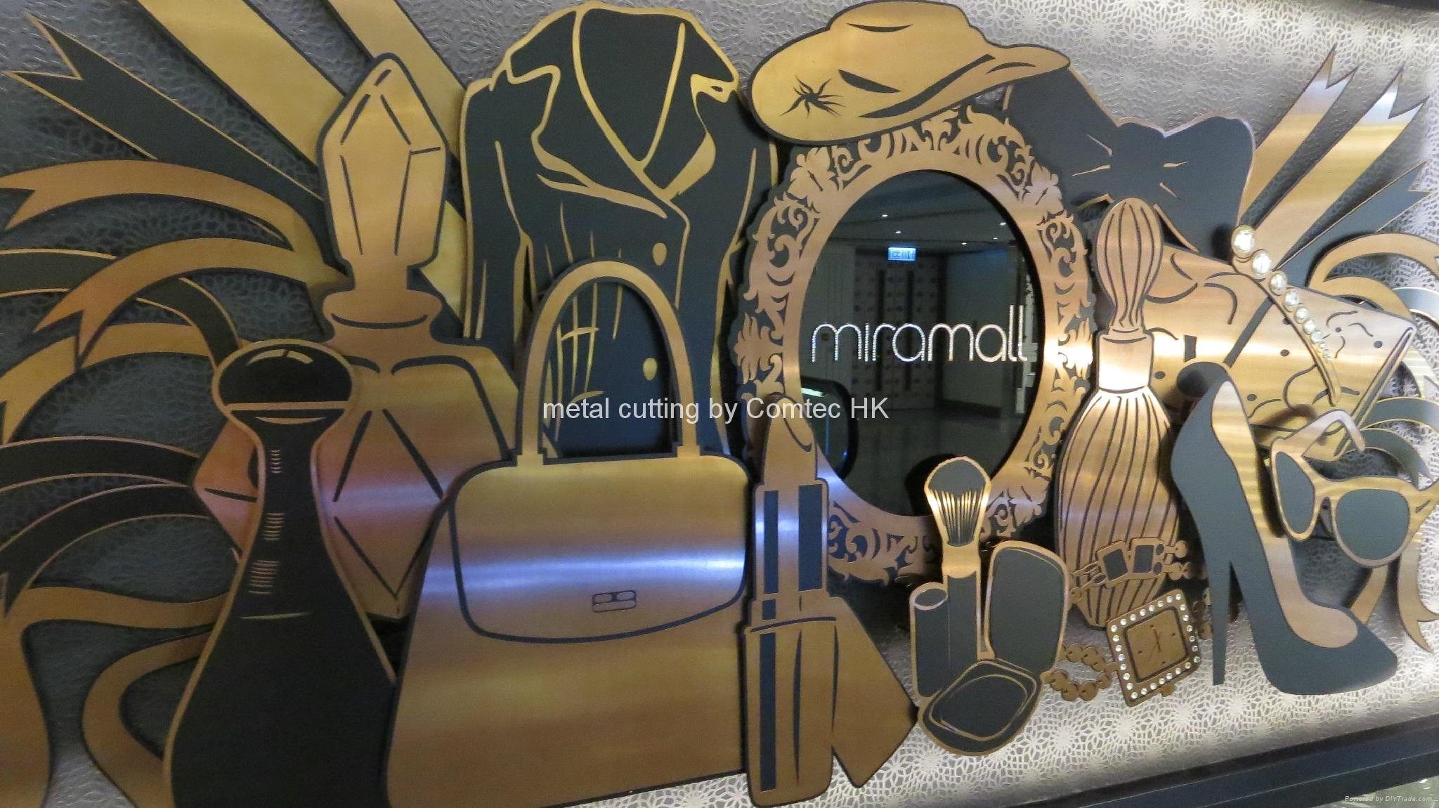 Brass cutting & engraved at TST Kowloon