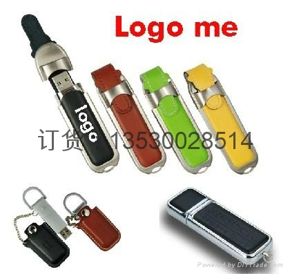 皮质USB 真皮u盘 皮革u盘 皮套优盘 足量USB随身碟 1