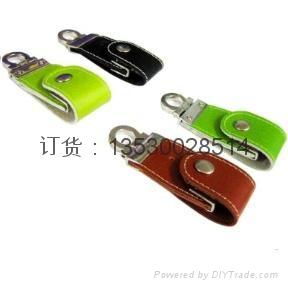 皮质USB 真皮u盘 皮革u盘 皮套优盘 足量USB随身碟 2