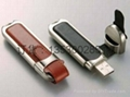 皮质USB 真皮u盘 皮革u盘 皮套优盘 足量USB随身碟 4