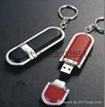 皮质USB 真皮u盘 皮革u盘 皮套优盘 足量USB随身碟 5