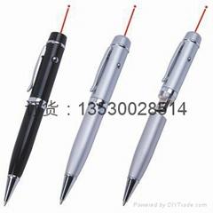 激光u盘笔,红色激光,带书写,u盘笔定制,创意商务u盘