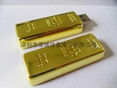 金條造型USB 金磚u盤定製 商務禮品u盤 深圳u盤工廠