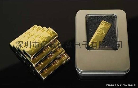 金条造型USB 金砖u盘定制 商务礼品u盘 深圳u盘工厂 3