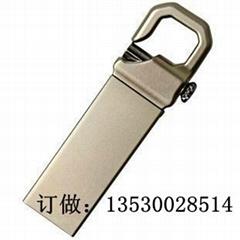 金屬材質u盤定製 登上扣u盤 usb隨身碟 金屬材質USB開模定製