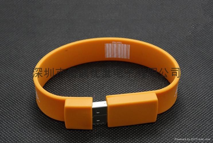 手腕帶u盤定製,深圳u盤工廠批發,手腕USB隨身碟,創意u盤批發 3