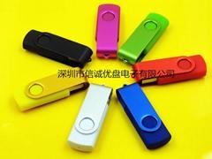 旋轉式USB隨身碟,夾子禮品u盤,投標優盤定做