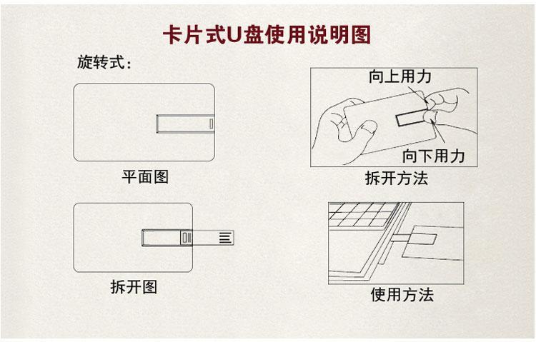 商务活动u盘定做 卡片名片优盘 USB随身碟 深圳礼品u盘供应商 5
