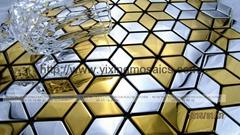 MI03 rhombus metal mosaic tile kitchen backsplash Foshan mosaic tile