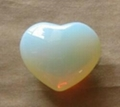 Polished gemstone opalite heart