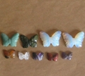 Gemstone butterflies carvings