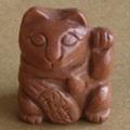 Semi precious stone cat statue