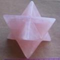 50mm crystal rose quartz merkaba star
