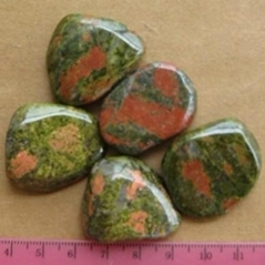 Healing unakite tumbled stones