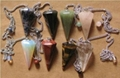 Natural gemstone faceted pendulums