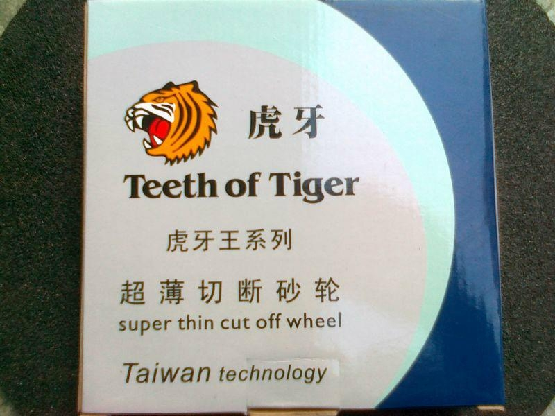 Teeth of Tiger resin abrasive Disc.  1