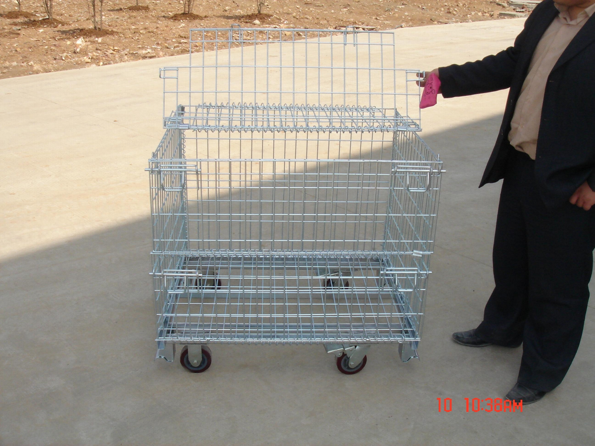 Wire Mesh Container Wire Mesh Cage with Cover Lids Mesh Divider 3