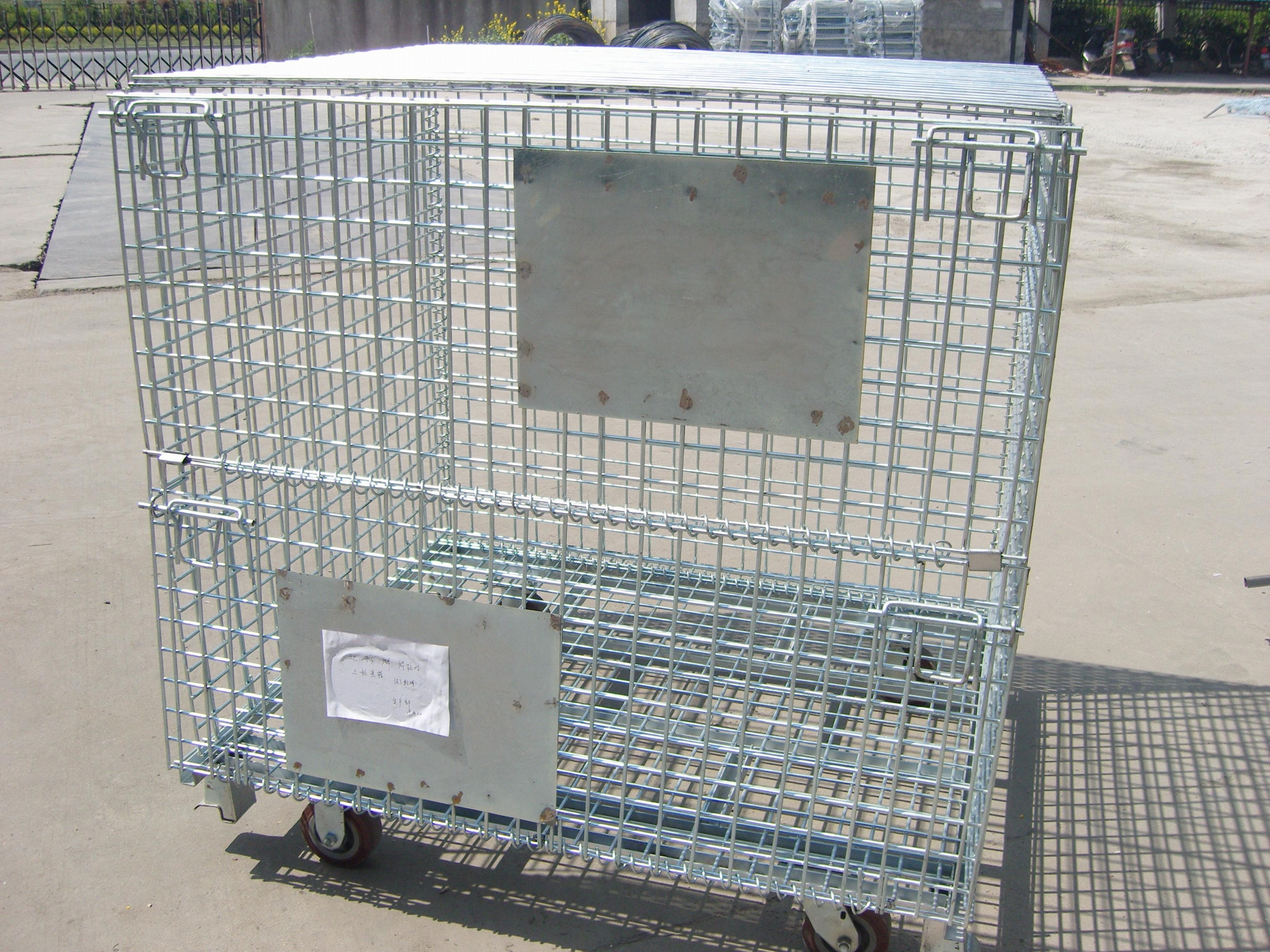 Wire Mesh Container Wire Mesh Cage with Cover Lids Mesh Divider 5