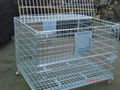 Wire Mesh Container Wire Mesh Cage with Cover Lids Mesh Divider 6