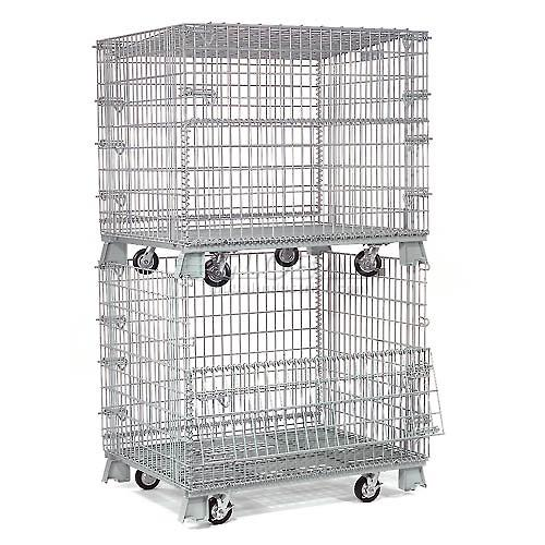 Wire Mesh Container Wire Mesh Cage with Cover Lids Mesh Divider 13