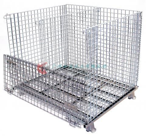 Wire Mesh Container Wire Mesh Cage with Cover Lids Mesh Divider 14