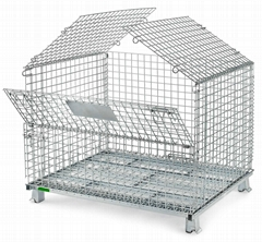 Wire Mesh Container Wire Mesh Cage with Cover Lids Mesh Divider