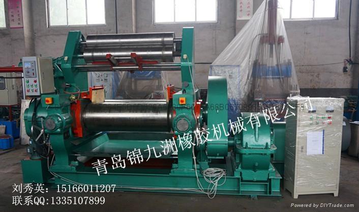 450型带翻胶装置橡胶自动开炼机 1