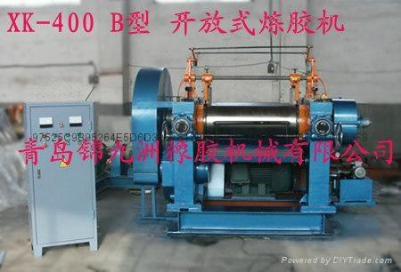 450型带翻胶装置橡胶自动开炼机 2