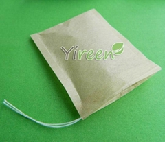 60 X 80mm Strings Filter Paper Tea Bags Pulp Color No Bleach
