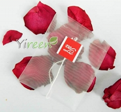 65 X 80mm String Nylon Tea Bags With Tags Transparent Bags