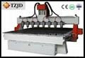 Advertising Multi heads CNC Router machine CE FDA SGS BV ISO