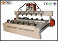 China CNC Router Engraver for Columned Wood Aluminum