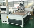Multi-head CNC Router with Automatic Tool Changing for Wood Working